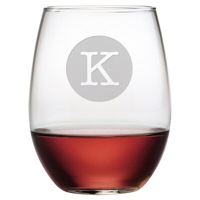 Personalized Typewriter 21 oz. Stemless Wine Glass WAY-9542-1071-4