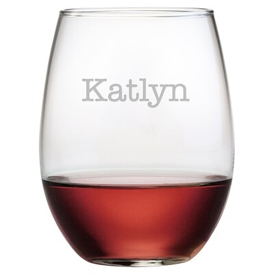 Personalized Melba 21 oz. Stemless Wine Glass WAY-9542-1075-4
