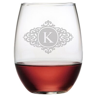 Personalized Scroll 4 Piece 21 oz. Stemless Wine Glass WAY-9542-1172-4