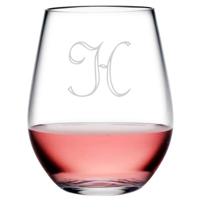Personalized Script 4 Piece 20 oz. Stemless Wine Glass WAY-0070-314-4
