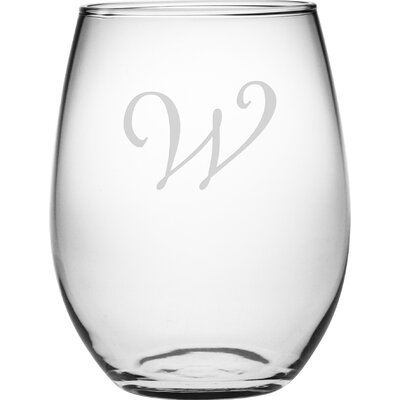 Personalized 4 Piece 21 Oz. Stemless Wine Glass WAY-9542-812-4