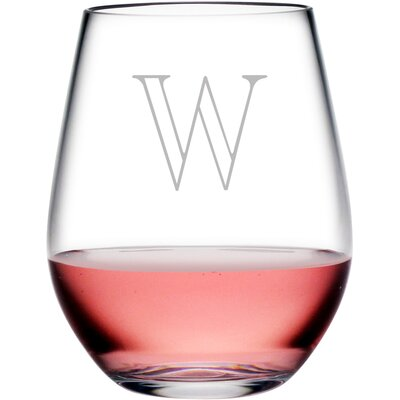 Personalized Plastic 4 Piece 20 oz. Stemless Wine Glass WAY-0070-319-4