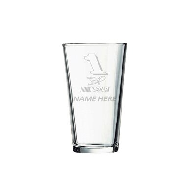 Nascar Individual 16 Oz. Mixing Glass  Jamie Mcmurray With Personalization
