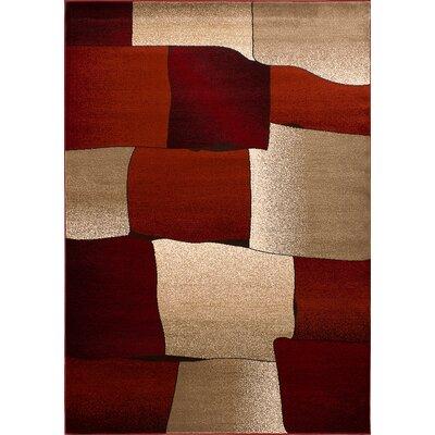 Monaco Beige/Burgundy Area Rug Rug Size: 8 x 11