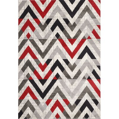 Venice Cream/Gray Area Rug Rug Size: 8 x 11