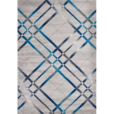 Venice Light Blue/Dark Blue/Cream Area Rug Rug Size: 5 x 8
