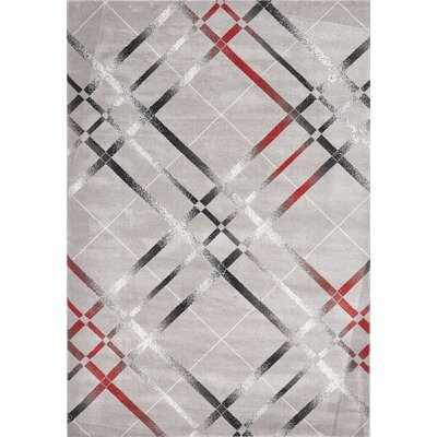 Venice Cream/Gray Area Rug Rug Size: 5 x 8