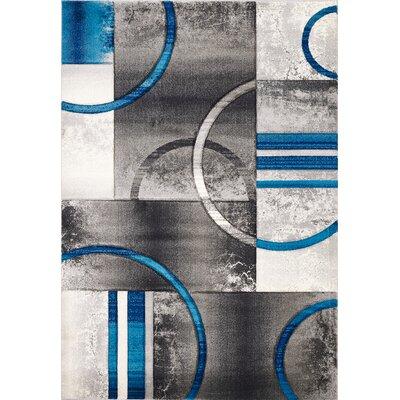 Sofia Gray/Turquoise Area Rug Rug Size: 710.5 x 1010