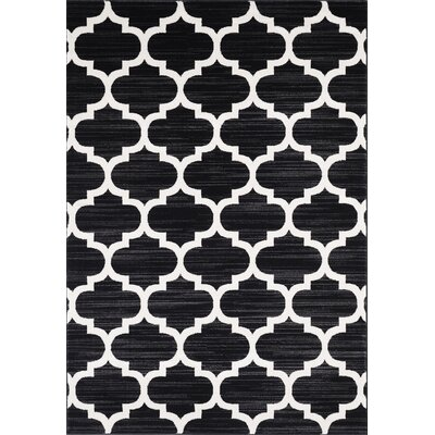 Waterloo Black Area Rug Rug Size: 5 x 8