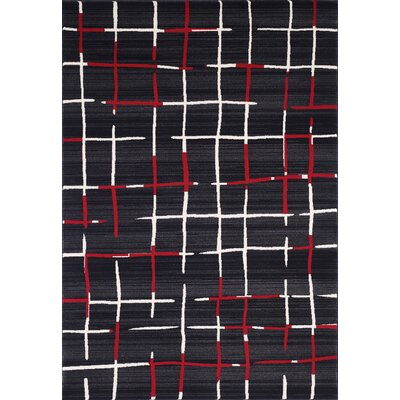 Waterloo Black Area Rug Rug Size: 8 x 11