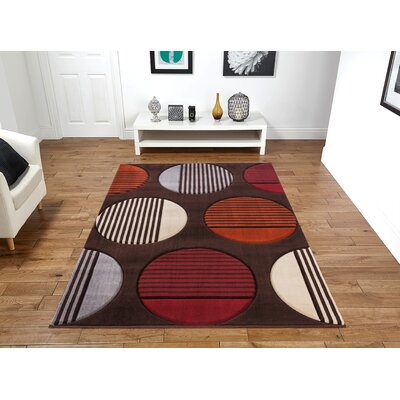 Yeung Brown Area Rug Rug Size: Rectangle 5 x 8