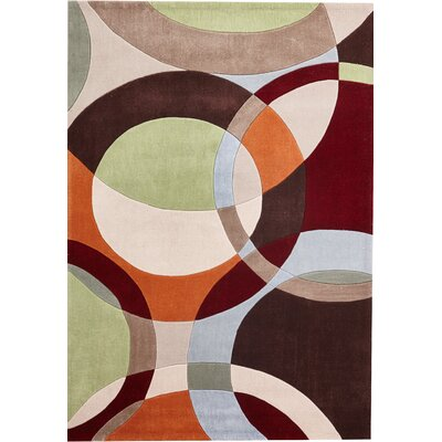 Everette Hand-Tufted Beige/Brown/Red Indoor Area Rug
