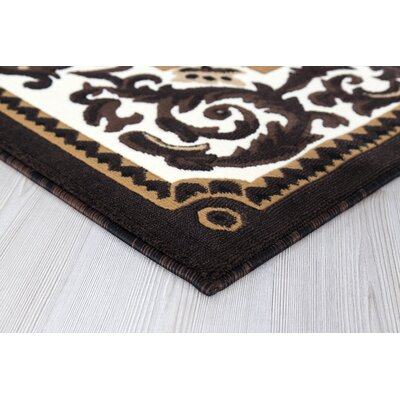 Risher Dark Brown Area Rug Rug Size: Runner 2 x 8