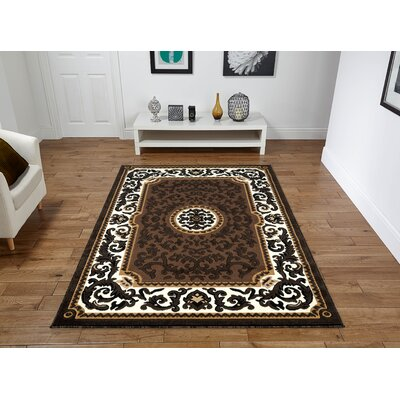 Rife Brown Area Rug Rug Size: Rectangle 8 x 11