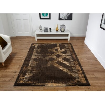 Singletary Brown Area Rug Rug Size: Rectangle 8 x 11