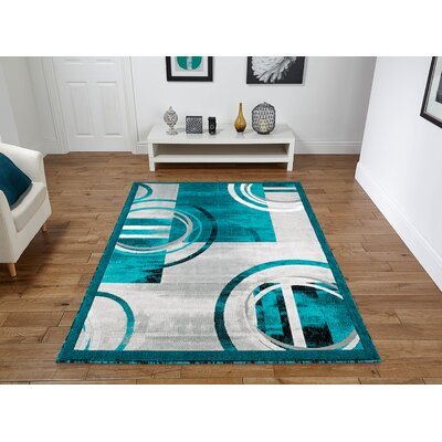 Chorleywood Turquoise/Gray Area Rug Rug Size: Rectangle 2 x 3