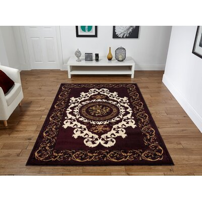 Riggio Brown Area Rug Rug Size: Rectangle 5 x 8