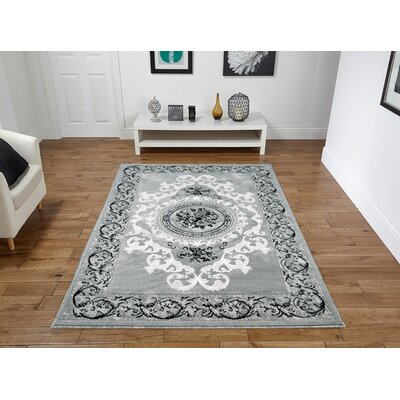 Rios Gray Area Rug Rug Size: Rectangle 5 x 8
