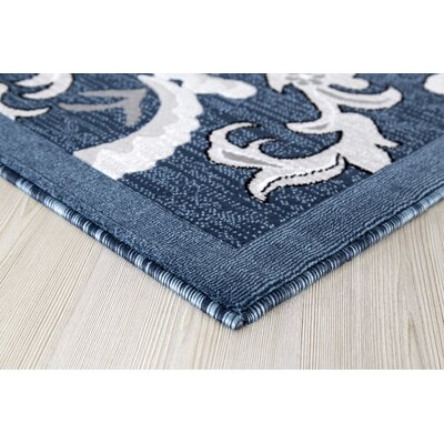 Risch Dark Blue Area Rug Rug Size: Rectangle 2 x 3