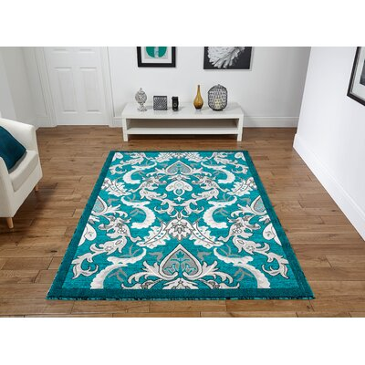 Rish Turquoise Area Rug Rug Size: Rectangle 8 x 11