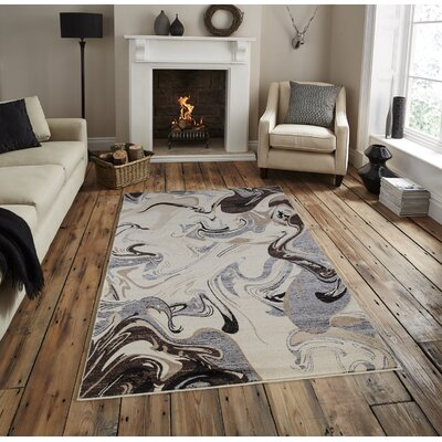 Railey Cream Area Rug Rug Size: Rectangle 53 x  76