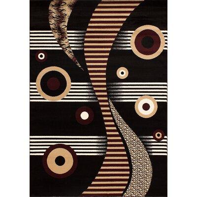 Dacian Black Area Rug Rug Size: 2 x 3
