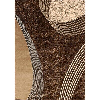 Alberta Chocolate Area Rug Rug Size: 5 x 8