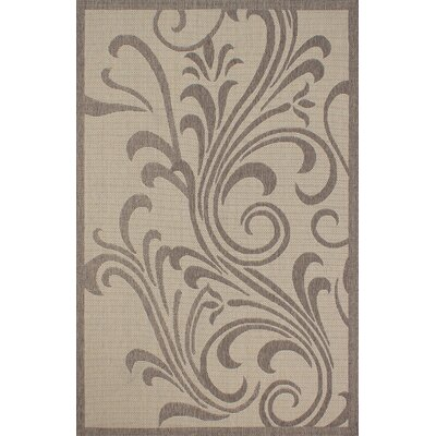 Stacey Light Brown Outdoor Area Rug Rug Size: 5 x 7