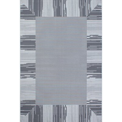 Bahamas Anthracite Outdoor Area Rug Rug Size: 2 x 3