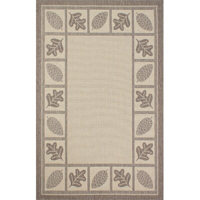 Bahamas Light Brown Outdoor Area Rug Rug Size: 5 x 7