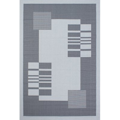 Bahamas Anthracite Outdoor Area Rug Rug Size: 5 x 7