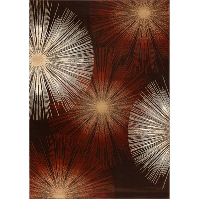 Monaco Dark Brown Rug Rug Size: 2 x 3