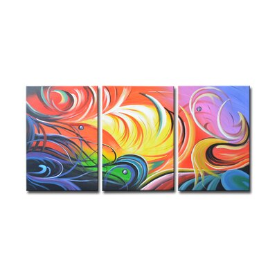 Radiance Toya 3 Piece Graphic Art on Canvas Set SEG-XD3-7116