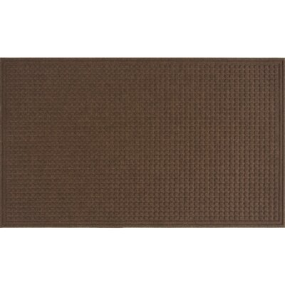 Textures Squares Doormat Color: Walnut