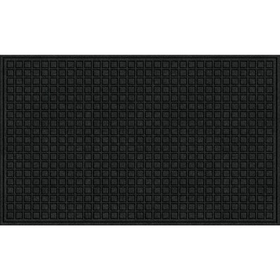 Textures Blocks Doormat Color: Onyx