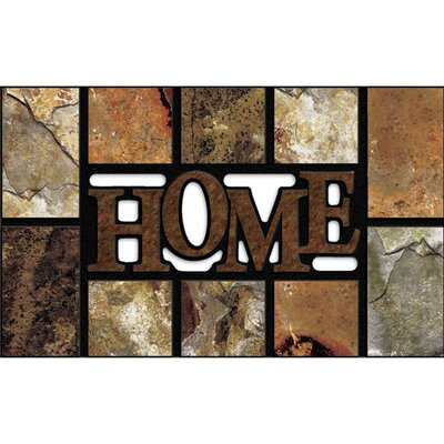 Elfrieda Home Slate Doormat Color: Brown
