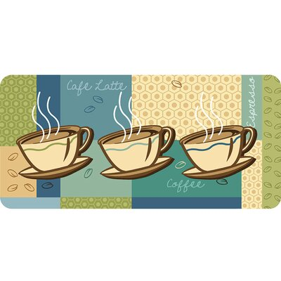 Curcio Coffee Cups Kitchen Mat