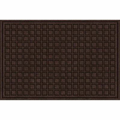 Lasseter Blocks Doormat Rug Size: Rectangle 2 x 3, Color: Walnut