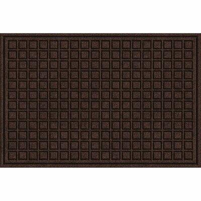 Lasseter Blocks Doormat Mat Size: Rectangle 2 x 3, Color: Walnut
