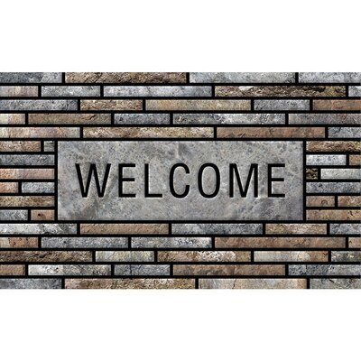 Elfrieda Welcome Stone Slats Doormat