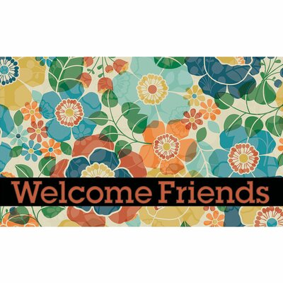 Elfrieda Kaleidoscope Welcome Friends Doormat