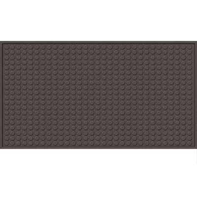 Quinwood Dots Doormat Mat Size: Rectangle 2 x 3, Color: Smoke