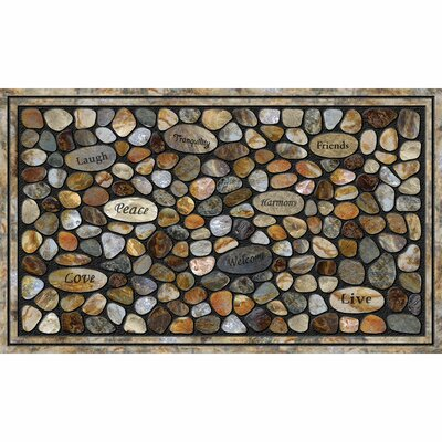 Elfrieda Inspirational Rocks Doormat
