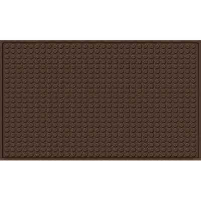Quinwood Dots Doormat Rug Size: Rectangle 16 x 26, Color: Walnut