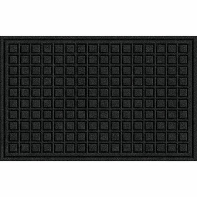 Lasseter Blocks Doormat Mat Size: Rectangle 16 x 26, Color: Onyx