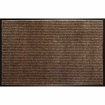 Robyn Utility Enviroback Apache Rib Doormat Mat Size: Rectangle 2 x 3, Color: Cocoa