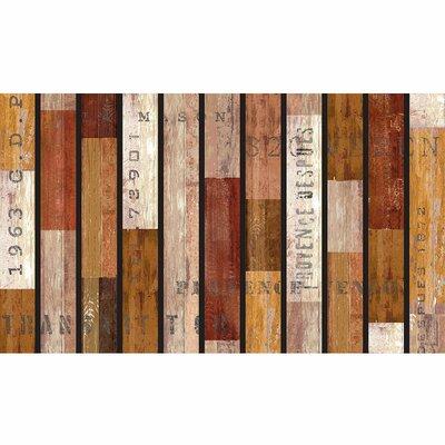 Zara Rustic Wood Slats Doormat