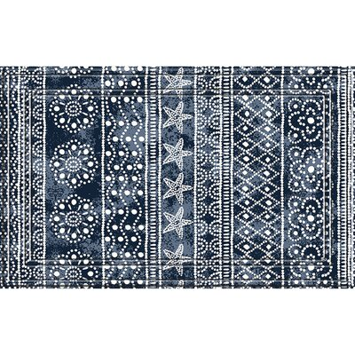 Carew Weave Medallion Stripes Doormat