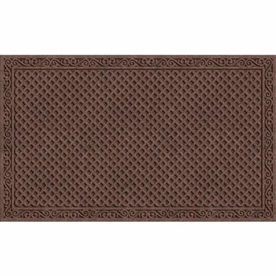 Lasseter Iron Lattice Doormat Color: Walnut