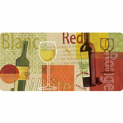 Cristy Wine Medley Burlap Kitchen Mat